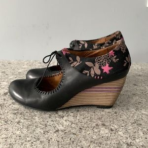 Staccato Leather Wedge Shoes